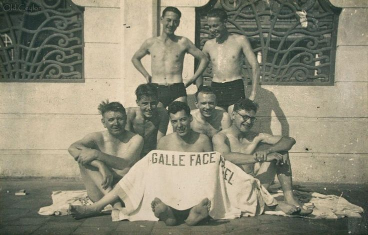 Guests after a refreshing swim in the only salt water swimming pool in Colombo at the Galle Face Hotel  #Throwback #Colombo #SriLanka