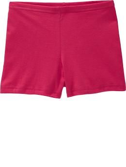 Girls Jersey Stretch Shorts - Stretchy jersey shorts are just the thing to layer under skirts and dresses for extra comfort and coverage! Perfect for the playground and jungle gym.