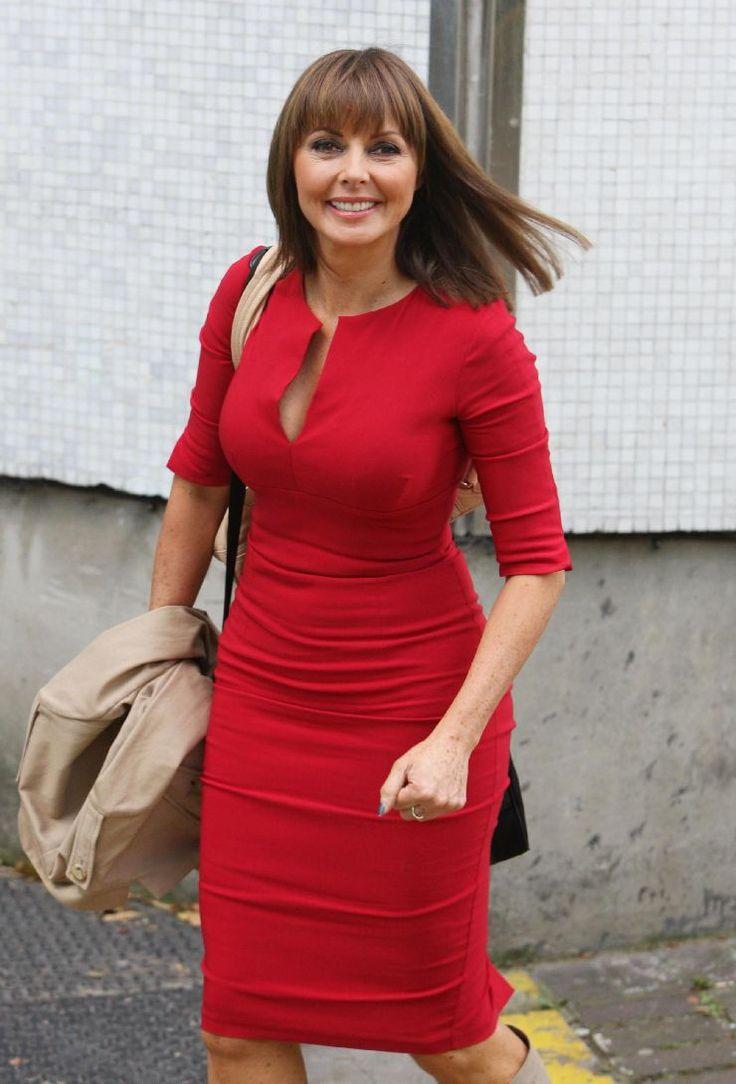Curvy Women In Tight Dresses   -Loose-Women-Red-Satin -8588