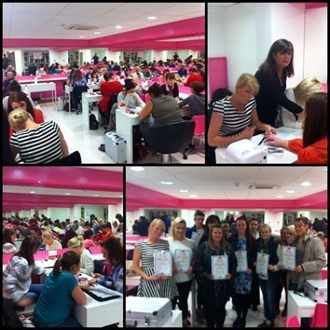 Our one day Nail Courses are packed every Tuesday. For more info  (Photo of today's nail academy in Henry Street.) To Enrol call 01-4295688