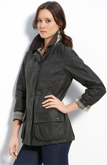 Love this jacket in Navy. Barbour Beadnell Waxed Cotton Jacket available at #Nordstrom