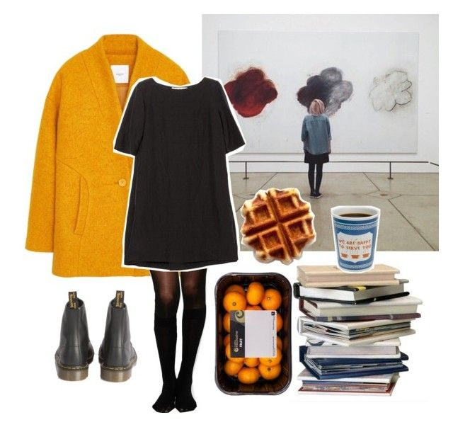 """""""A trip to an art gallery"""" by linneminne ❤ liked on Polyvore featuring MANGO, Pretty Polly, Marni, Dr. Martens, women's clothing, women's fashion, women, female, woman and misses"""