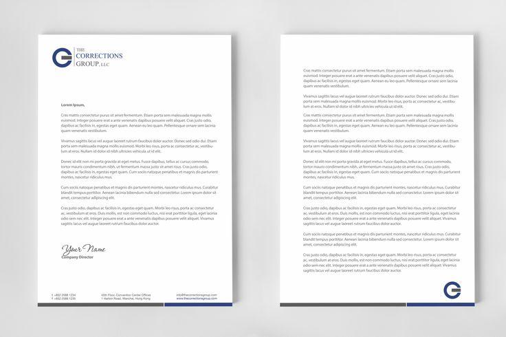 letterhead design second page - Google Search Letterhead - professional letterhead format