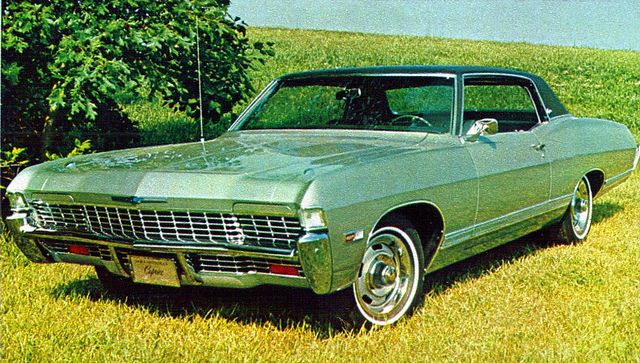 1968 Chevrolet Caprice Sport Coupe. Where as Ford made hidden headlights a standard accessory on their top-line LTD, Caprice made it an option in '68.