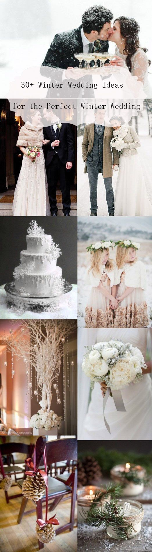 """When planning a wedding, winter is probably the last season that people have in mind, it's quite different from what people think about the """"dream wedding"""". In fact, there are many advantages of throw a winter wedding."""