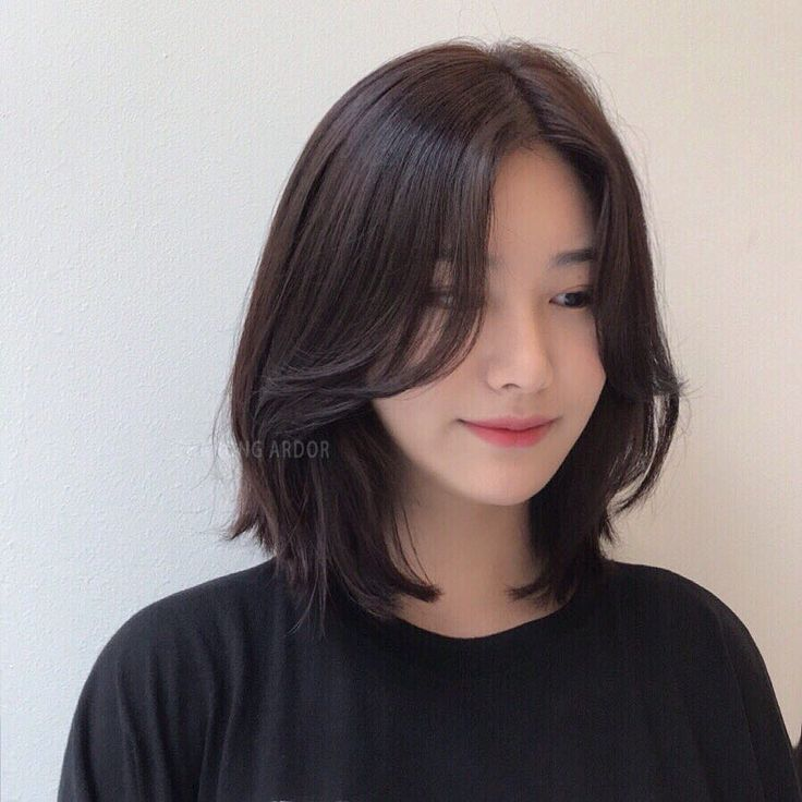 Shoulder Length Hair Shoulder Length Korean Shoulder Length Hair Korean Past Shoulder Length Hair Belo In 2020 Shot Hair Styles Asian Short Hair Aesthetic Hair