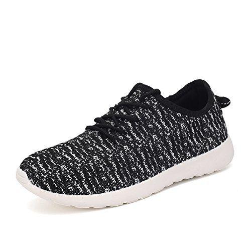 Zapatillas para caminar Go Vulc de 2 puntos para hombre, negras / grises, 11.5 m US