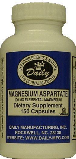 Magnesium Aspartate, 100 mg - 150 vegetarian capsules