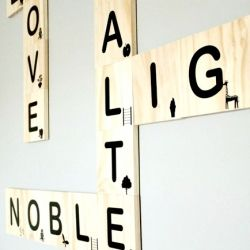 DIY scrabble wall art with a little twist. My version cost way less than the original and is better!