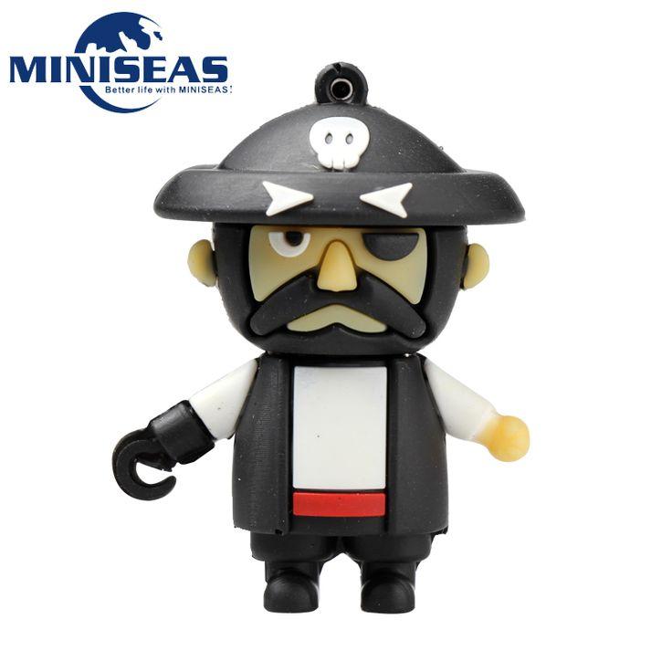 Miniseas Usb Flash Drive 2016 Мода Прохладный Пиратская 8 Г/16 Г/32 Г/64 Г Usb 2.0 Памяти USB U блюдо Ручка Привода Флешки Для ПК