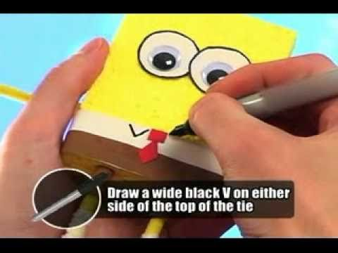 How to make Spongebob Squarepants. Did this today, was a fun project for Emma!