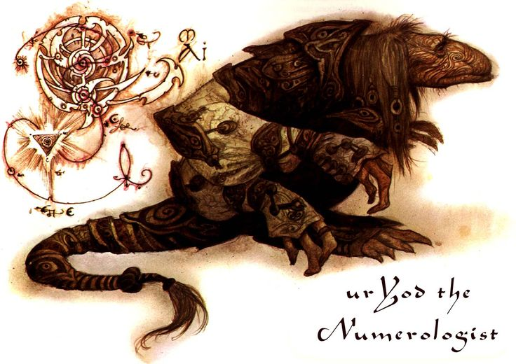 UrYod the Numerologist  From The World of the Dark Crystal by brian froud: