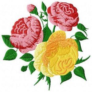 Výšivka - Růže -