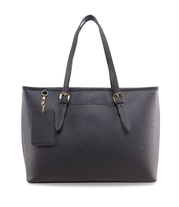 Saffiano Work Tote by Zalora. A classic tote bag with oversized style. Complete your bag collections with this black oversize bag, made from synthetic leather, one main compartment, back pocket. Now you can bring anything to work in one bag with this perfectly charming bag.   http://zocko.it/LDcyA