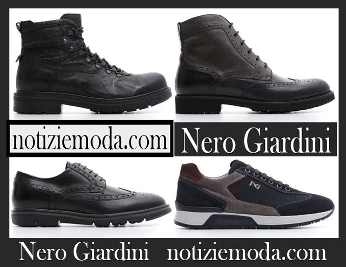 los angeles 8f855 09143 Scarpe Nero Giardini autunno inverno 2018 2019 uomo nuovi ...
