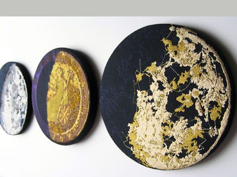 Karina Thompson - Matthew Boulton Moon Phases hand embroidery