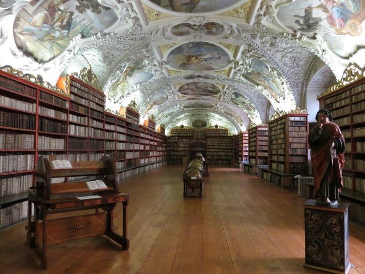 Library in the Strahov Monastery, Prague https://fbcdn-sphotos-h-a.akamaihd.net/hphotos-ak-prn1/164598_554146737970523_1056851185_n.jpg