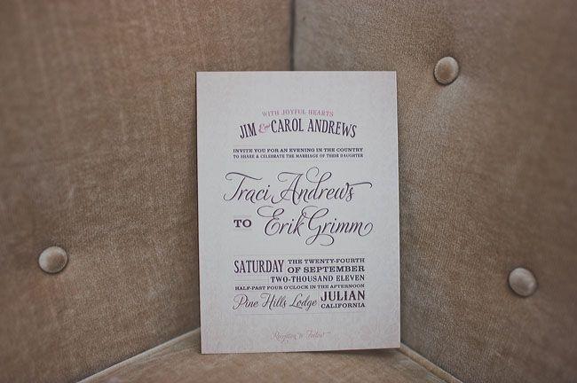 lovely scripted invite