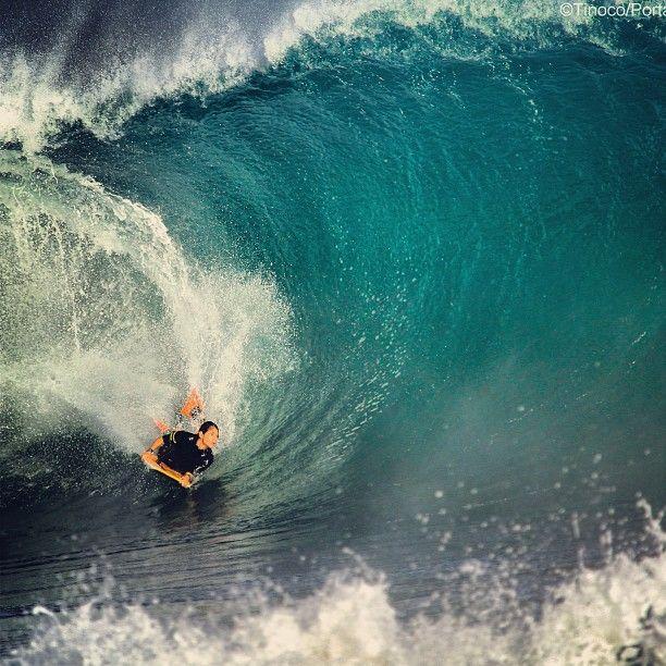 """Belly-boarding in Hawaii. ~ Miks' Pics """"Water Sport in Hawaii"""" board @ http://www.pinterest.com/msmgish/water-sport-in-hawaii/"""