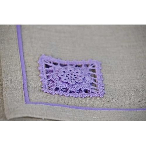 Table setting, 100% linen, hand made crochet! $15 home decor, place mat, napkin, gift idea, monart