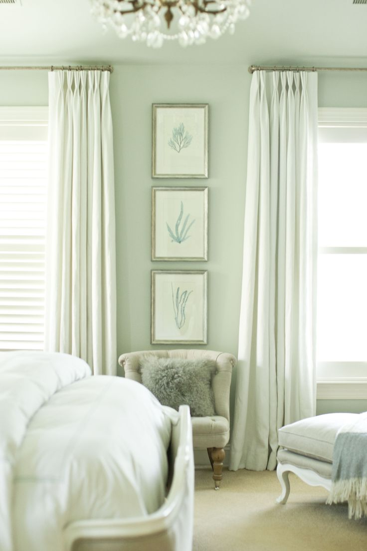 50 best amazing drapes images on pinterest curtains home and stephanie shaw design 2013 gray blue bedroom white linen drapes greige linen white