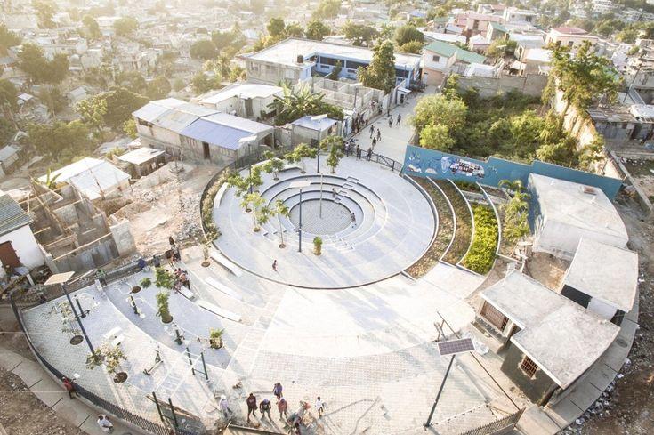 EVA, Tapis Rouge, public square in Port-au-Prince, Haiti 2016