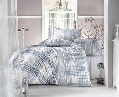 Купить постельное белье RANFORCE VIOLA бирюзовое 50х70 евро от производителя Altinbasak (Турция)