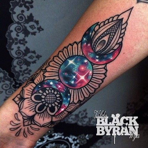 Vilda Storm mandala lace galaxy tattoo