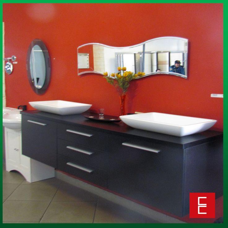 Mueble Baño Elegante:Elegante sugerencia para un baño de parejas Mueble moderno