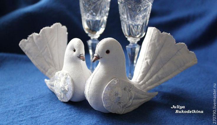 Купить Почтовые голуби (пара) - белый, Голуби, голубки, белые птицы, птицы, свадебные голуби