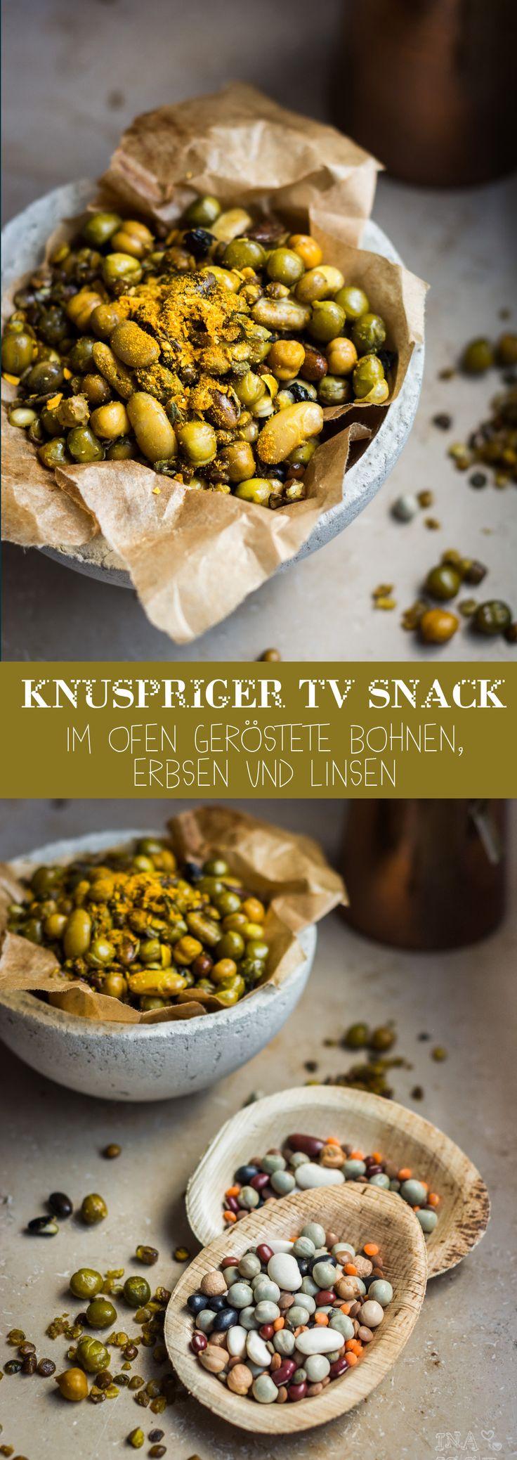 Knuspriger TV Snack - Im Ofen geröstete Bohnen, Erbsen und Linsen /// Oven roasted pulses
