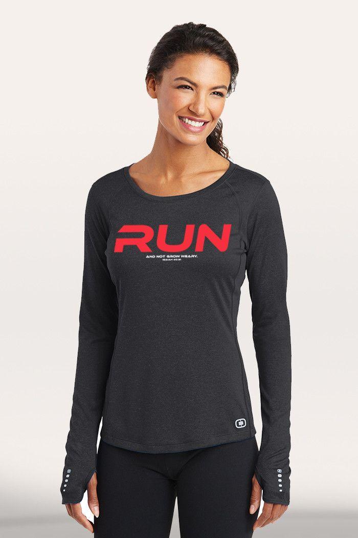 Run Women's Active Long Sleeve - Black