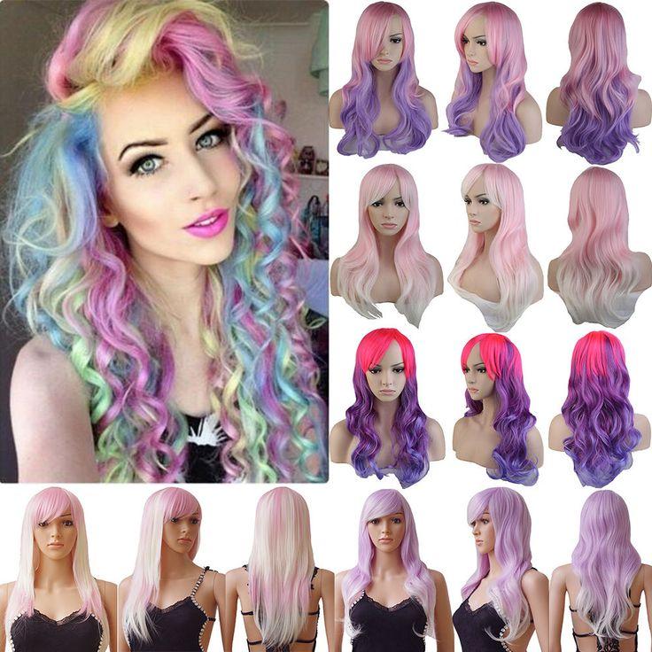 US Synthetic Hair Wig Long Curly Full Wigs Cosplay Halloween Fancy Dress Wig kj1 #Unbranded #cosplayWig