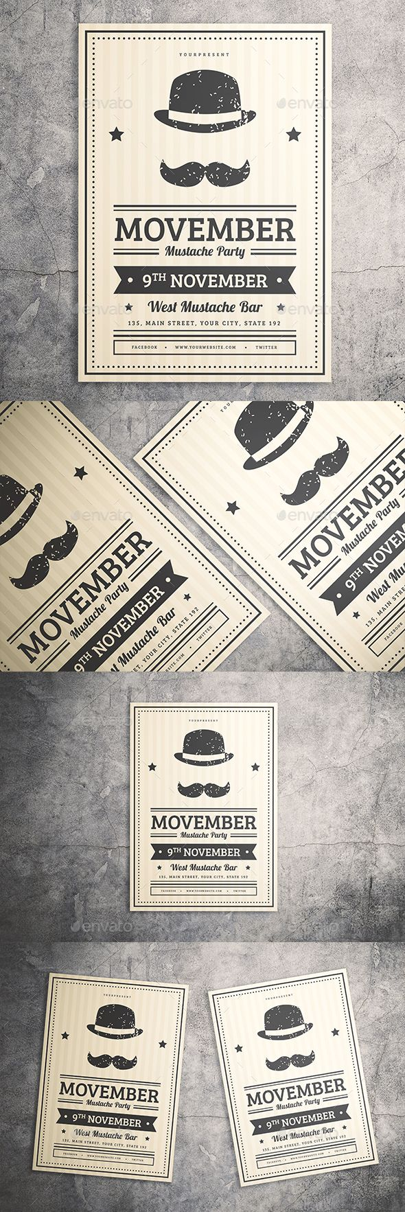 Mustache #Party #Flyer - Events Flyers