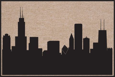 Calling All Chicago Lovers!!! Chicago Skyline- Indoor/Outdoor Door Mat  Click here to see more awesome and fun door mats.