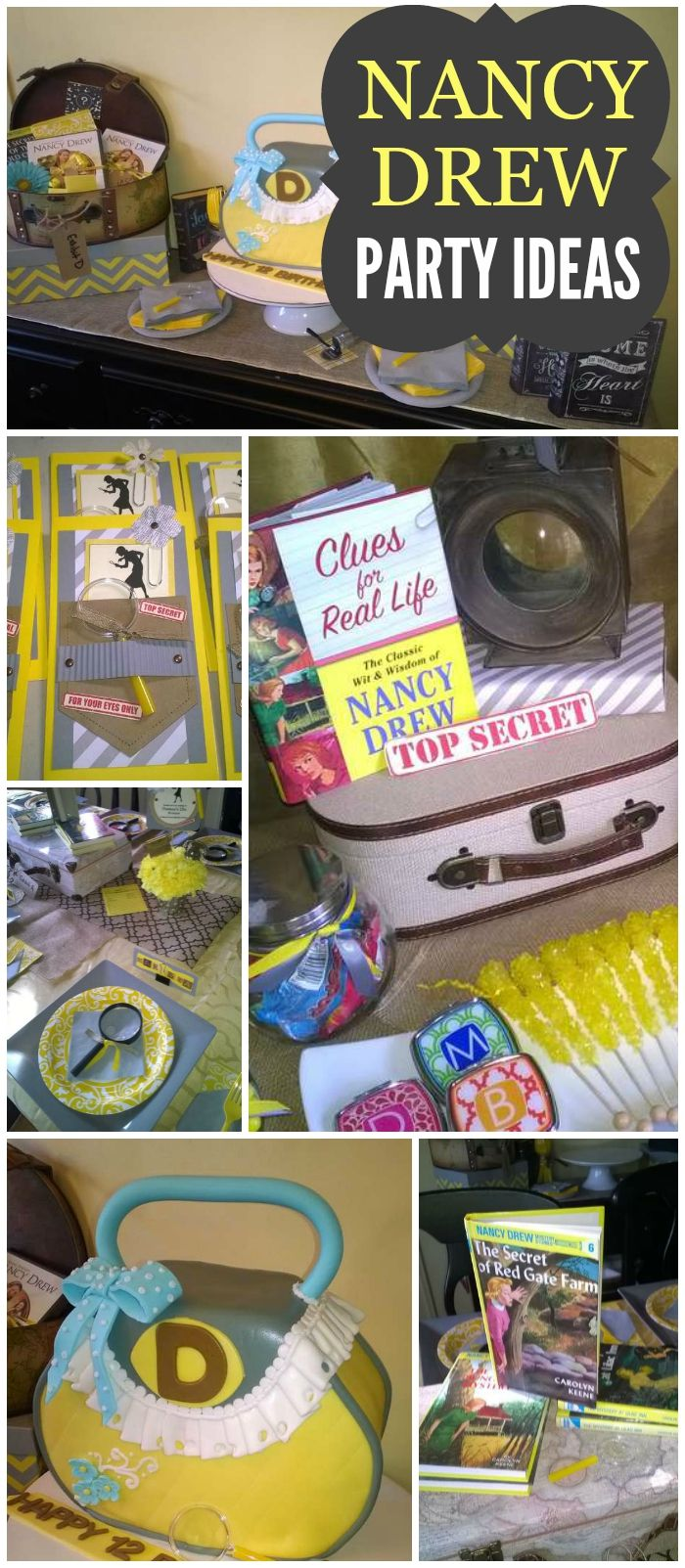 Check out this Nancy Drew party with a scavenger hunt! See more party ideas at CatchMyParty.com!