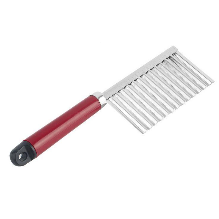 Batata ondulado afiada faca de aço inoxidável cabo de plástico utensílio de cozinha vegetal de corte de frutas descascador de cozinha ferramenta acessórios alishoppbrasil