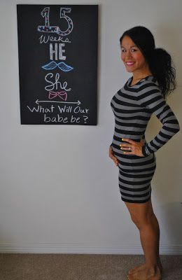 Diary of a Fit Mommy: 15 Weeks Pregnancy Chalkboard Update!