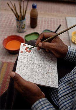 Neerja's Famous Jaipur Blue Pottery Wooden Drawers