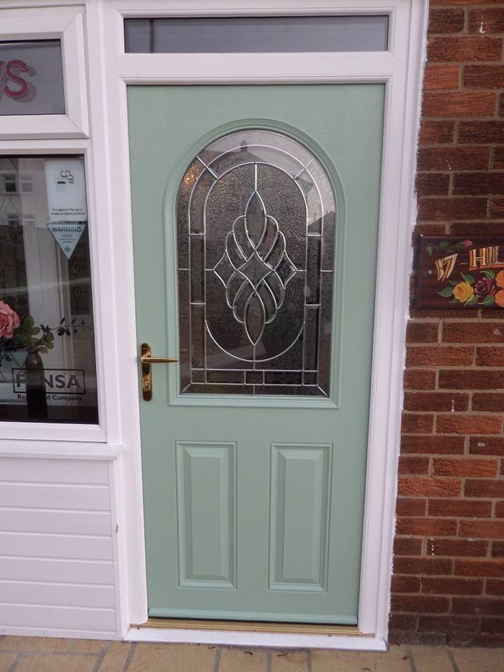 Large Decorative Composite Door design in Chartwell Green
