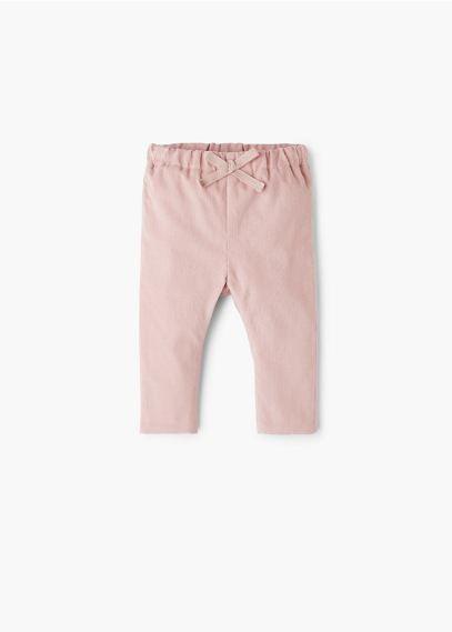 Bawełniane spodnie | MANGO KIDS