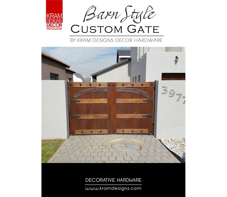 Enhance the curb appeal of your home by adding Kram Designs Decor Hardware to your side gates.