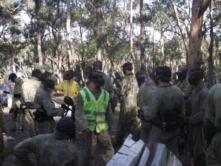 Paintball with the boys every June. 30th June 2012. www.g4p.com.au