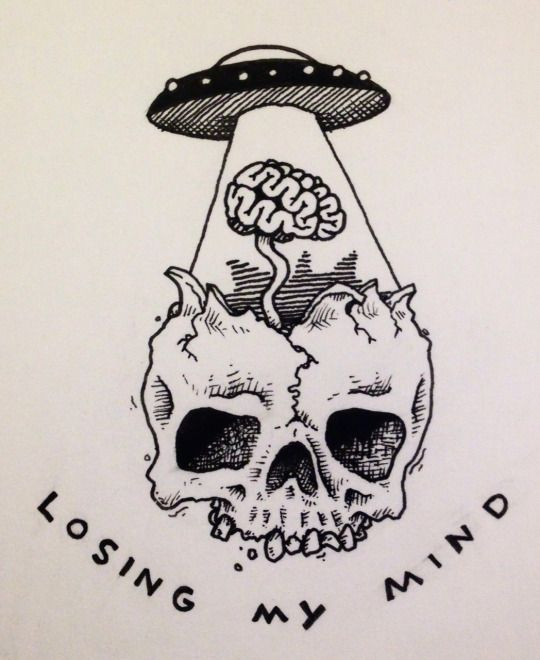 Losing my mind. | By ? [Skull - Illustration - UFO]                                                                                                                                                      More