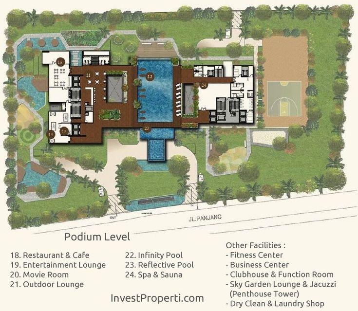 Wang Residence Podium Level Site Plan