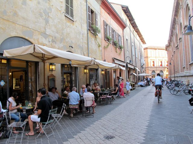 "Restaurants and cafés in Via IV Novembre - ""The wonders of Ravenna"" by @Keith Savoie Jenkins"