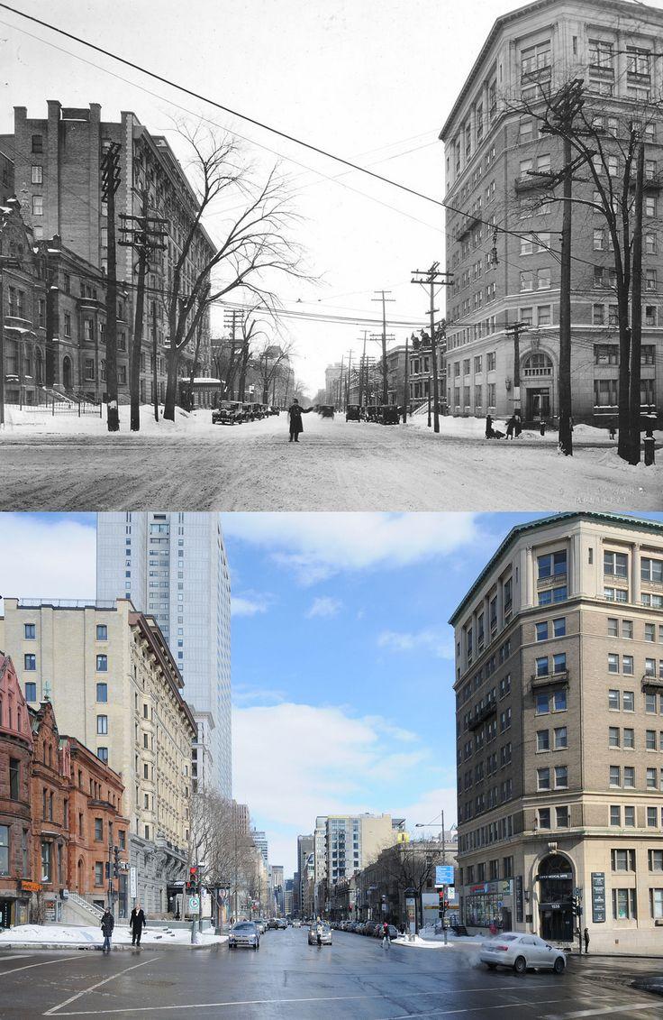 https://flic.kr/p/kCYCgw   1927-2014   Une vue de la rue Sherbrooke depuis la rue Guy. Source : Archives de la Ville de Montréal © Tous droits réservés : Guillaume St-Jean Maintenant via Facebook : Montréal Avant-Après. www.facebook.com/pages/Montr%C3%A9al-Avant-Apr%C3%A8s/607...