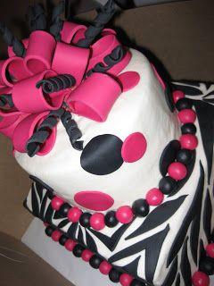 baby shower cakes for a girl zebra print | Piece of Cake: Zebra Print Cakes