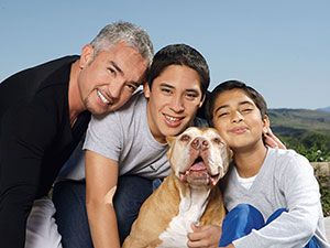 What is a pit bull? | Cesar Millan Andre and Calvin and Daddy...