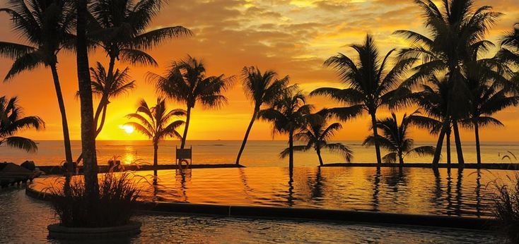 The Sensational Sunset at the Trou aux Biches Hotel in Mauritius.